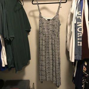 Torrid hanky hem chevron dress
